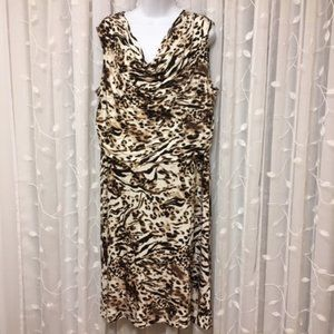 Calvin Klein Animal Print Dress sz 0X
